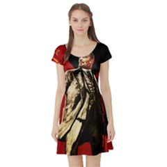 Lenin  Short Sleeve Skater Dress