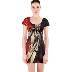 Lenin  Short Sleeve Bodycon Dress