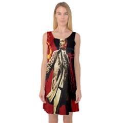 Lenin  Sleeveless Satin Nightdress