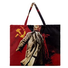 Lenin  Zipper Large Tote Bag