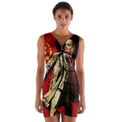 Lenin  Wrap Front Bodycon Dress