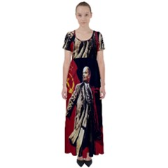 Lenin  High Waist Short Sleeve Maxi Dress