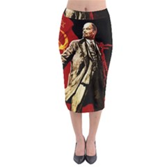 Lenin  Midi Pencil Skirt