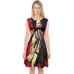 Lenin  Capsleeve Midi Dress