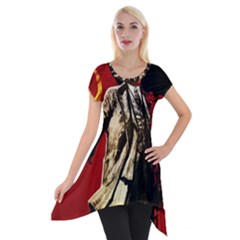 Lenin  Short Sleeve Side Drop Tunic