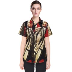 Lenin  Women s Short Sleeve Shirt