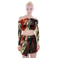 Lenin  Off Shoulder Top With Mini Skirt Set