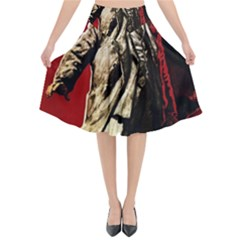 Lenin  Flared Midi Skirt