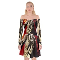 Lenin  Off Shoulder Skater Dress