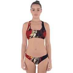 Lenin  Cross Back Hipster Bikini Set