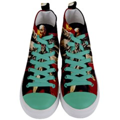 Lenin  Women s Mid Top Canvas Sneakers