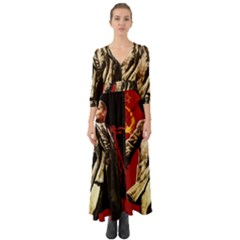 Lenin  Button Up Boho Maxi Dress