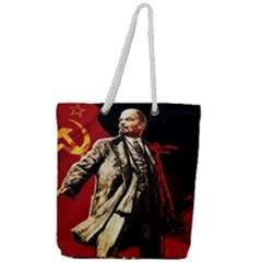Lenin  Full Print Rope Handle Tote (large)