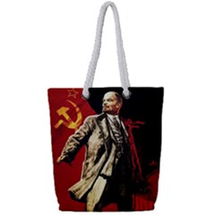 Lenin  Full Print Rope Handle Tote (small)