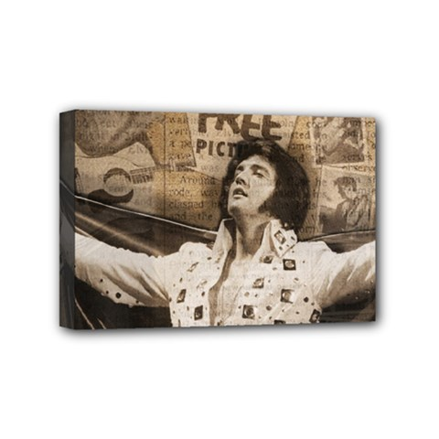 Vintage Elvis Presley Mini Canvas 6  X 4