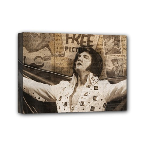 Vintage Elvis Presley Mini Canvas 7  X 5