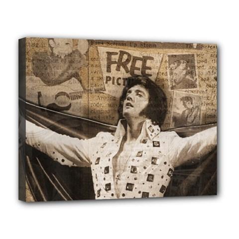 Vintage Elvis Presley Canvas 14  X 11