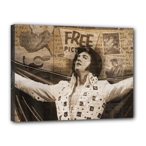 Vintage Elvis Presley Canvas 16  X 12