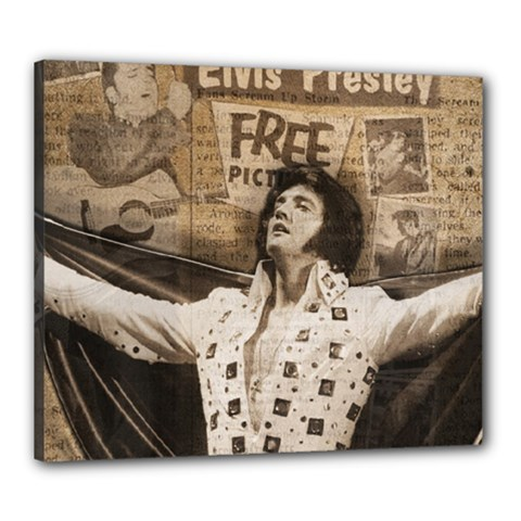Vintage Elvis Presley Canvas 24  X 20