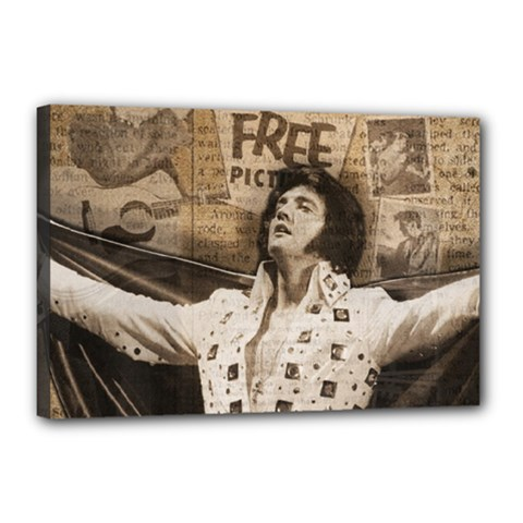 Vintage Elvis Presley Canvas 18  X 12