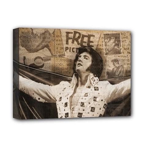 Vintage Elvis Presley Deluxe Canvas 16  X 12