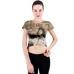 Vintage Elvis Presley Crew Neck Crop Top