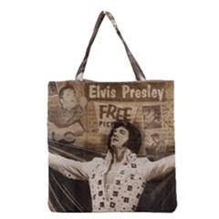 Vintage Elvis Presley Grocery Tote Bag