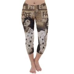 Vintage Elvis Presley Capri Winter Leggings