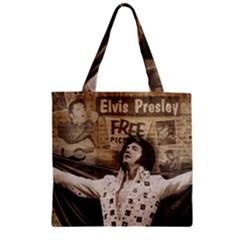 Vintage Elvis Presley Zipper Grocery Tote Bag