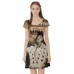 Vintage Elvis Presley Short Sleeve Skater Dress