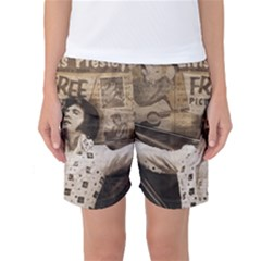 Vintage Elvis Presley Women s Basketball Shorts