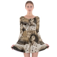 Vintage Elvis Presley Long Sleeve Skater Dress