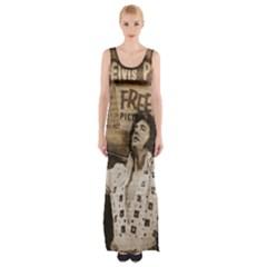 Vintage Elvis Presley Maxi Thigh Split Dress