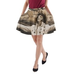 Vintage Elvis Presley A Line Pocket Skirt