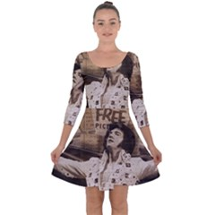 Vintage Elvis Presley Quarter Sleeve Skater Dress