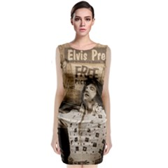 Vintage Elvis Presley Classic Sleeveless Midi Dress