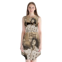 Vintage Elvis Presley Sleeveless Chiffon Dress