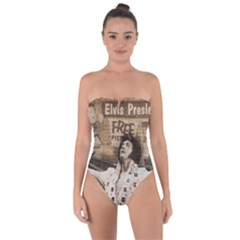 Vintage Elvis Presley Tie Back One Piece Swimsuit