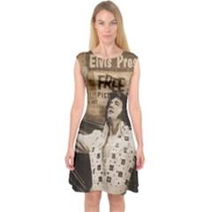 Vintage Elvis Presley Capsleeve Midi Dress