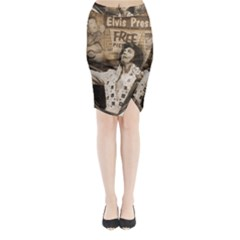 Vintage Elvis Presley Midi Wrap Pencil Skirt