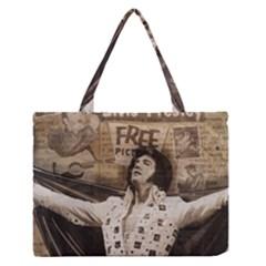 Vintage Elvis Presley Zipper Medium Tote Bag