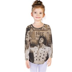 Vintage Elvis Presley Kids  Long Sleeve Tee