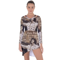 Vintage Elvis Presley Asymmetric Cut Out Shift Dress