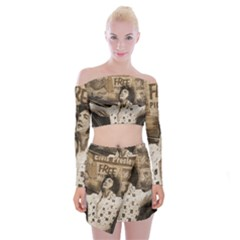 Vintage Elvis Presley Off Shoulder Top With Mini Skirt Set
