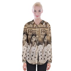 Vintage Elvis Presley Womens Long Sleeve Shirt