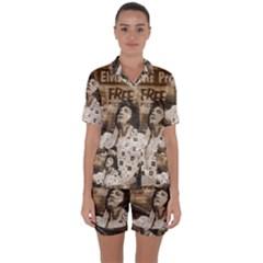 Vintage Elvis Presley Satin Short Sleeve Pyjamas Set