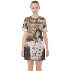 Vintage Elvis Presley Sixties Short Sleeve Mini Dress