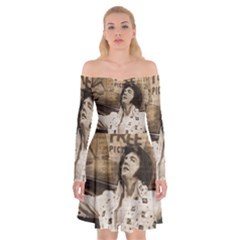 Vintage Elvis Presley Off Shoulder Skater Dress