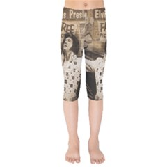 Vintage Elvis Presley Kids  Capri Leggings