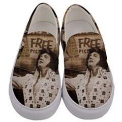 Vintage Elvis Presley Men s Canvas Slip Ons